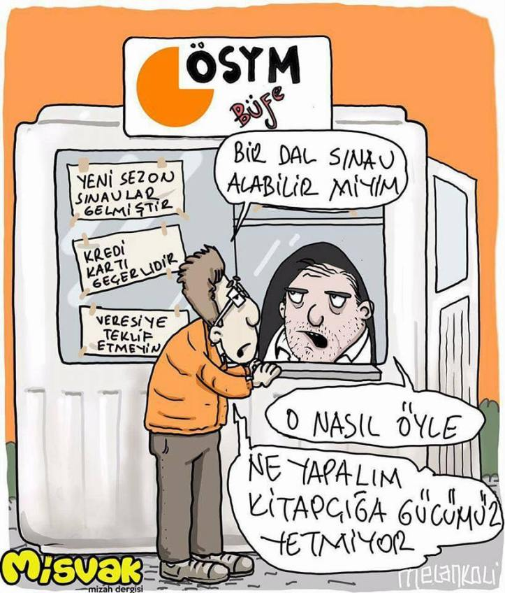 ÖSYM kpss ücreti karikatürü