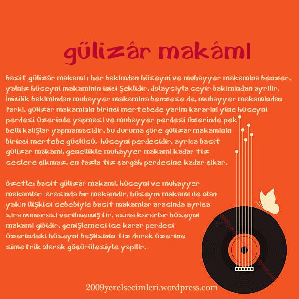 osmanlı müziğinde basit gülizâr makâmı
