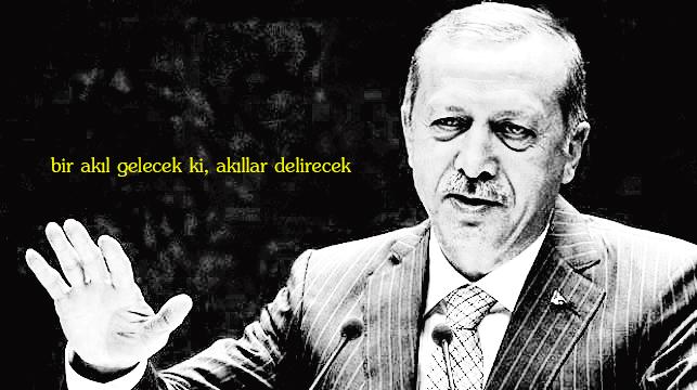 Erdoğan: Bir akıl gelecek ki, akıllar delirecek.