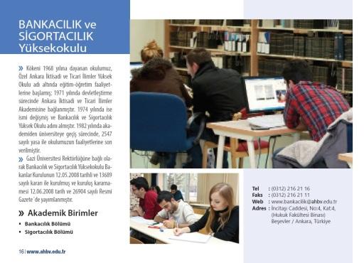 AHBVÜ BANKACILIK ve SİGORTACILIK Yüksekokulu