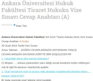 Ankara Üniversitesi Hukuk Fakültesi Ticaret Hukuku Vize Sınavı Cevap Anahtarı