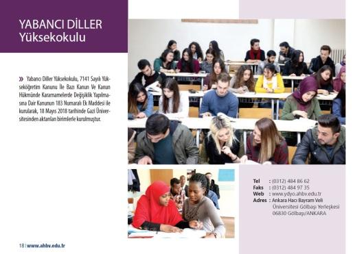 Ankara Hacı Bayram Veli Üniversitesi YABANCI DİLLER Yüksekokulu