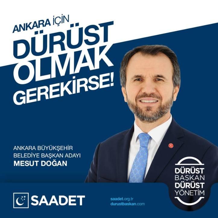 2019 yerel seçimleri saadet partisi ankara büyük şehir belediye başkan adayı