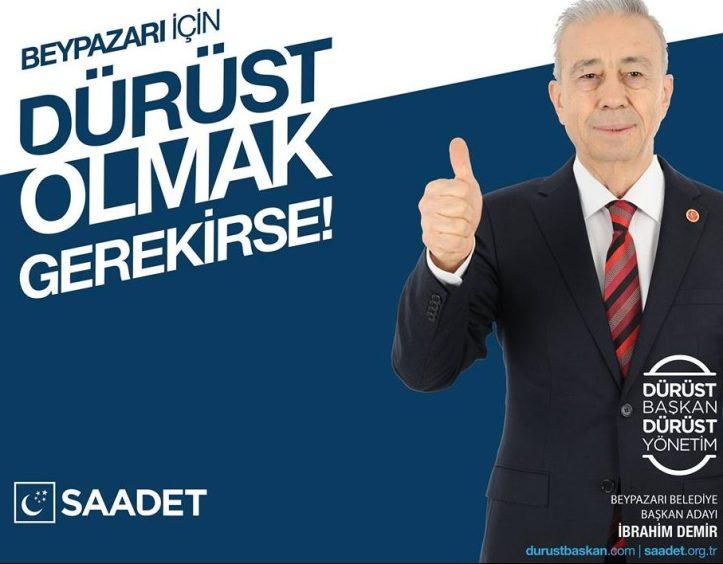 Saadet Partisi Beypazarı Elmadağ Belediye Başkan Adayı