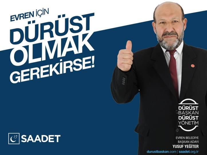 Evren Belediye Başkan Adayı Yusuf Yiğiter