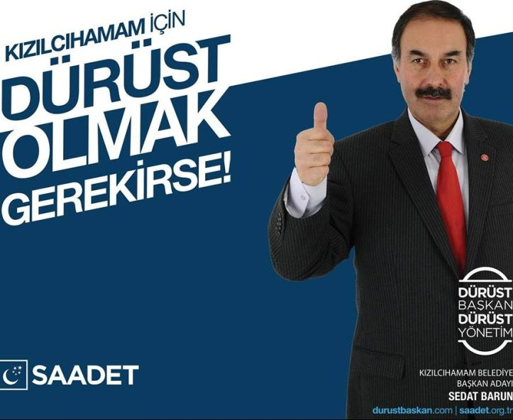 Saadet Partisi Kızılcahamam Belediye Başkan Adayı Sedat Barun